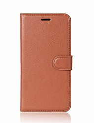 cheap -Case For Xiaomi Xiaomi Redmi Note 5A Wallet / Card Holder / Flip Full Body Cases Solid Colored Hard PU Leather