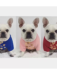 cheap -Pets Dog Sweatshirt Dog Clothes Geometric Fuchsia Blue Pink Cotton Costume For Spring &  Fall Winter Unisex Abstract Casual / Daily High Quality