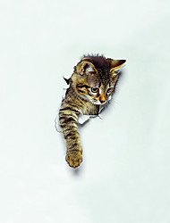 cheap -Animals Wall Stickers Toilet, Pre-pasted Vinyl Home Decoration Wall Decal