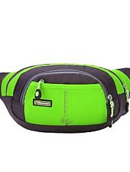 cheap -2 L Waist Bag / Waistpack Windproof Wear Resistance Outdoor Hunting Fishing Hiking Cloth Nylon Orange Green Blue