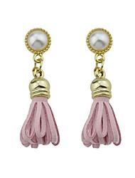 cheap -Women's Drop Earrings Ladies Fashion Cute Pearl Earrings Jewelry White / Green / Pink For Daily Casual