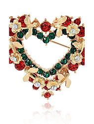 Недорогие -Синтетический алмаз Броши Сердце Дамы Мода Брошь Бижутерия Разные цвета Назначение Рождество Подарок