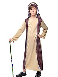 cheap -Ethnic / Religious Costume Kid's Christmas Halloween Festival / Holiday Terylene Carnival Costumes Patchwork / Headpiece