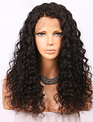 cheap -Human Hair Glueless Lace Front Lace Front Wig style Brazilian Hair Curly Wig 150% Density with Baby Hair Natural Hairline For Black Women Women's Long Human Hair Lace Wig