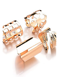 cheap -Ring Gold Silver Metal Alloy Leaf Ladies Unusual Unique Design Adjustable / Women's