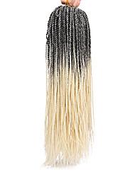 cheap -Faux Locs Dreadlocks Senegalese Twist Box Braids Synthetic Hair Medium Length Braiding Hair 1pc / pack 37 Roots