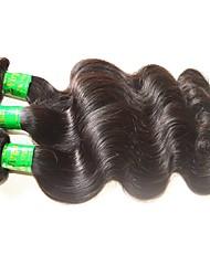 Недорогие -Индийские волосы Естественные кудри Необработанные натуральные волосы 300 g Человека ткет Волосы Ткет человеческих волос Расширения человеческих волос