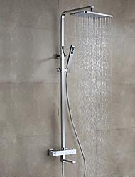 Недорогие -Смеситель для душа - Современный Модерн Хром На стену Керамический клапан