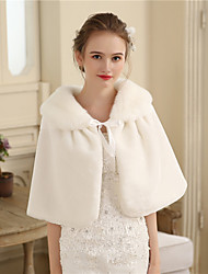 cheap -Faux Fur Wedding / Party / Evening Women's Wrap With Fur Capelets