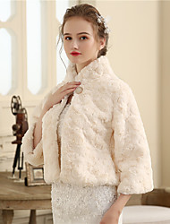 cheap -Faux Fur Wedding / Party / Evening Women's Wrap With Buttons / Fur Shrugs