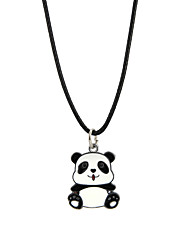 cheap -Men's Women's Pendant Necklace Panda Animal Alloy Black Necklace Jewelry For Party Club