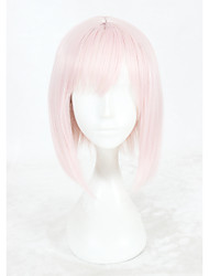 cheap -Synthetic Wig Straight Straight Wig Pink Short Pink Synthetic Hair Women's Braided Wig Pink
