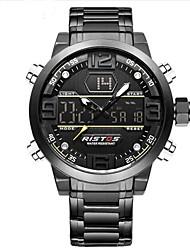 cheap -Men's Sport Watch Military Watch Digital Watch Japanese Quartz Stainless Steel Black / Gold 30 m Water Resistant / Waterproof Alarm Calendar / date / day Analog - Digital Charm Luxury Vintage Casual