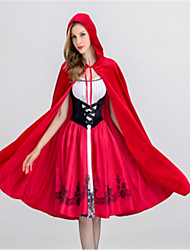 cheap -Little Red Riding Hood Cosplay Costume Halloween Festival / Holiday Polyster Red Carnival Costumes Fashion