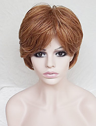 cheap -Synthetic Wig Natural Wave Natural Wave With Bangs Wig Blonde Short Strawberry Blonde Synthetic Hair Women's Blonde