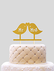 cheap -Cake Topper Wedding Hearts Paper Wedding with 1 PVC Bag