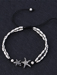 cheap -Anklet Ladies Vintage Simple Style Women's Body Jewelry For Gift Casual Beads Alloy Animal Starfish White Black