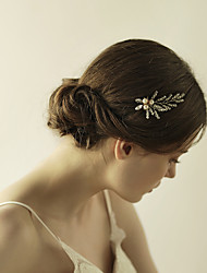 cheap -Crystal / Imitation Pearl Flowers / Hair Stick / Hair Pin with 1 Wedding / Special Occasion / Anniversary Headpiece