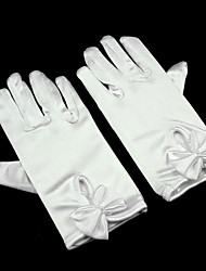 cheap -Spandex Wrist Length Glove Flower Girl Gloves With Bowknot / Pearl