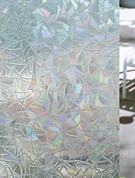 cheap -Geometric Window Sticker, PVC/Vinyl Material Window Decoration Living Room Bath Room Shop /Cafe Kitchen