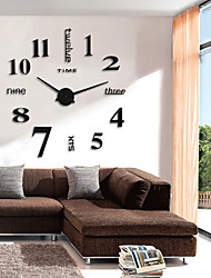 cheap -Modern Contemporary / Retro Round Novelty / Characters / Holiday Indoor / Outdoor AA Decoration Wall Clock Analog Emboss No