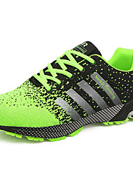 cheap -Men's Comfort Shoes Tulle Summer / Fall Athletic Shoes Running Shoes Green / Red / Blue / Lace-up