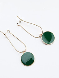 cheap -Women's Drop Earrings Ladies Fashion Earrings Jewelry Green For Daily Casual