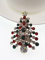 Недорогие -Муж. Жен. Синтетический алмаз Броши Классика Мода Брошь Бижутерия Золотой Назначение Рождество Для вечеринок