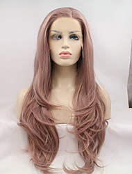 cheap -Synthetic Lace Front Wig Lace Front Wig Long Lavender Synthetic Hair Natural Hairline Purple