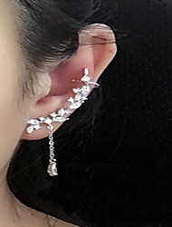 cheap -Women's Crystal Stud Earrings Mismatch Earrings Ear Climbers cuff Ladies Personalized Fashion Elegant everyday Sterling Silver Crystal Earrings Jewelry Silver For Wedding Casual Masquerade Engagement