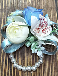 cheap -Wedding Flowers Wrist Corsages Wedding Polyester 3.94 inch