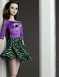 Недорогие -Платье куклы Платья для Кукла Барби Мода Кружево Смесь хлопка Шелково-шерстяная ткань Игрушка ручной работы для подарков на день рождения девочки / Дети