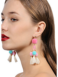 cheap -Women's Drop Earrings Hoop Earrings Ball Earrings Jewelry Pink For Daily Ceremony