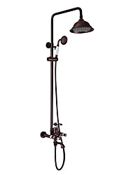 cheap -Shower Faucet - Antique Luxury Oil-rubbed Bronze Wall Mounted Ceramic Valve