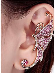 cheap -Women's Stud Earrings Clip on Earring Climber Earrings cuff Animal Ladies Personalized Fashion Rhinestone Earrings Jewelry Silver / Pink For Casual Street