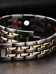 cheap -Men's Chain Bracelet Bracelet Bangles Natural Fashion equilibrio Titanium Steel Bracelet Jewelry Black For Gift Daily