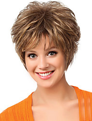 cheap -Synthetic Wig Natural Wave Natural Wave Wig Short Brown Synthetic Hair Women's Brown MAYSU