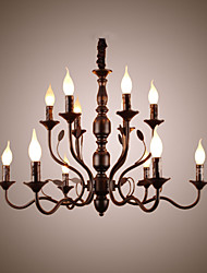 cheap -12 Bulbs 80 cm Candle Style Chandelier Metal Painted Finishes Chic & Modern 110-120V / 220-240V
