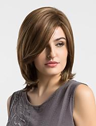 cheap -Synthetic Wig Natural Wave Natural Wave Wig Medium Length Brown Synthetic Hair Women's Highlighted / Balayage Hair Brown MAYSU