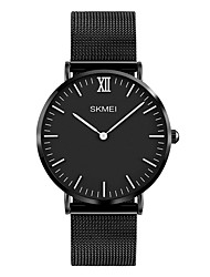 cheap -SKMEI Men's Wrist Watch Japanese Quartz Stainless Steel Black / Silver / Rose Gold 30 m Water Resistant / Waterproof Cool Analog Luxury Classic Fashion Minimalist Simple watch - Silver Silver / Black