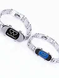 cheap -Couple's Chain Bracelet Heart Fashion Elegant Titanium Steel Bracelet Jewelry Silver For Going out Valentine