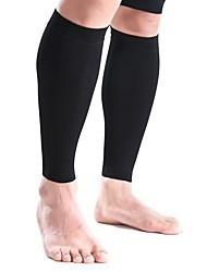 cheap -Leg Sleeves Calf Support Calf Compression Sleeves for Running Hiking Cycling / Bike Cup Warmer Compression Stretchy Nylon Lycra Spandex 1pc Sport Athleisure Black White Red