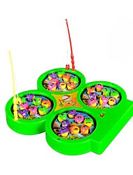 cheap -Fishing Toy Musical Toy Rotating Fishing Toy Electric 4 players Kid's Toy Gift 1 pcs
