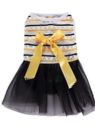 cheap -Dog Dress Tuxedo Dog Clothes Yellow Costume Chiffon Cotton Princess Party Cosplay Holiday XS S M L XL
