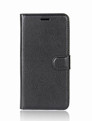 cheap -Case For Alcatel Alcatel U5 HD / Alcatel U5 3G / Alcatel U5 4G Wallet / Card Holder / Flip Full Body Cases Solid Colored Hard PU Leather