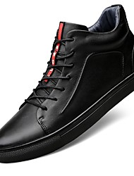 cheap -Men's Comfort Shoes Leather / Nappa Leather / Cowhide Spring / Winter Sneakers Booties / Ankle Boots Black / Lace-up / Snow Boots
