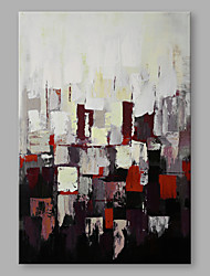 cheap -Oil Painting Hand Painted - Abstract Artistic Stretched Canvas