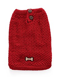 cheap -Cat Dog Coat Sweater Christmas Winter Dog Clothes Red Blue Costume Spandex Cotton / Linen Blend Bone Party Cosplay Casual / Daily XXS XS S M L