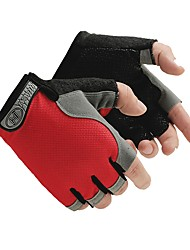 cheap -Bike Gloves / Cycling Gloves Road Bike Cycling Lightweight Breathable Anti-Slip Quick Dry Fingerless Gloves Half Finger Sports Gloves Orange Red Green for Adults' Camping / Hiking / Caving