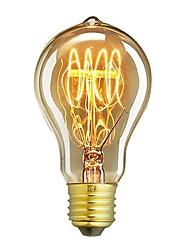 cheap -1pc 60 W E26 / E27 A60(A19) Warm White 2300 k Retro / Dimmable / Decorative Incandescent Vintage Edison Light Bulb 220-240 V